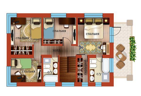 Планировка Пятикомнатная квартира площадью 162.8 кв.м в ЖК «Близкое»