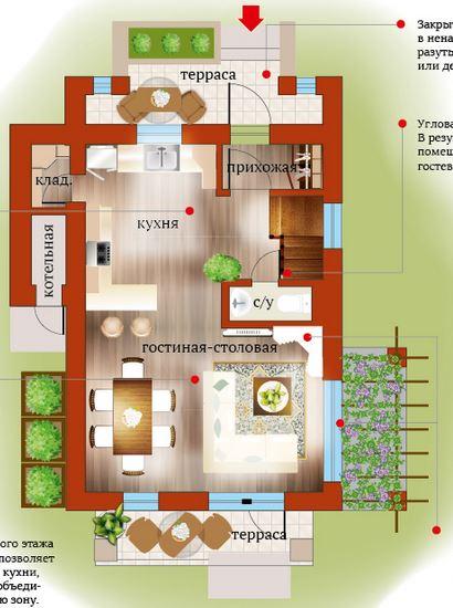 Планировка Четырёхкомнатная квартира (Евро) площадью 110.84 кв.м в ЖК «Близкое»